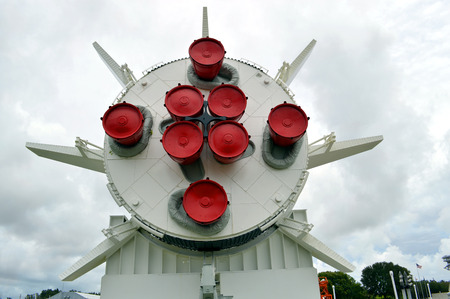 cape canaveral: MercuryRedstone rocket on display at Kennedy Space Centre Florida Editorial