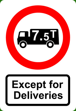 obligatory: Road traffic order sign No HGV vehicles