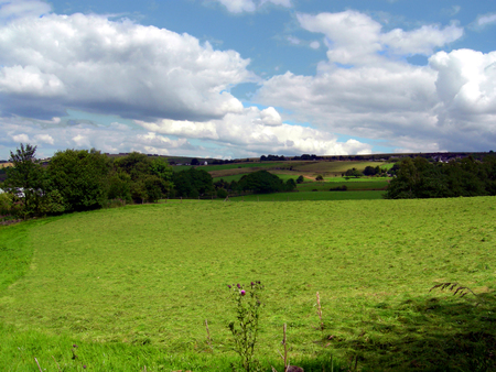 Fields in Pickup Bank, Darwen, England UK