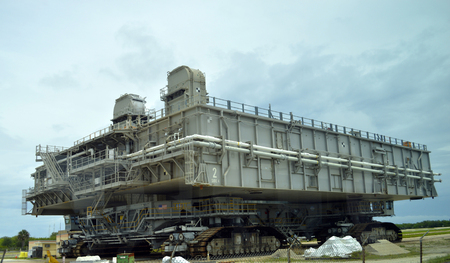 cape canaveral: Cape Canaveral, Florida, USA - May 6, 2015: Crawler transporter in Kennedy Space Centre