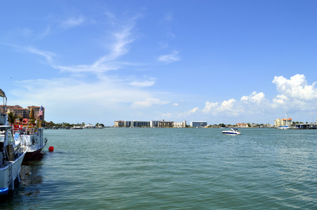 pinellas: Clearwater Beach harbour in Florida Stock Photo