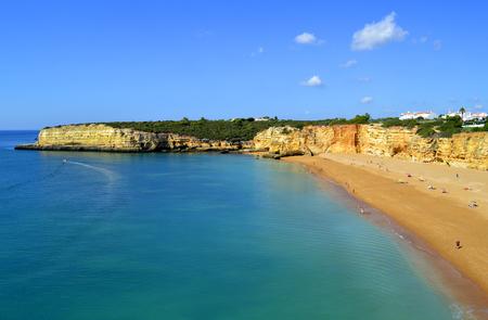 rocha: Spectacular cliffs on Senhora Da Rocha Nova Beach in Portugal