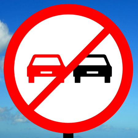overtaking: End of no overtaking road traffic sign