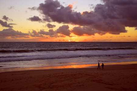 da: Sunset on Praia Da Gale Beach on the Algarve coast