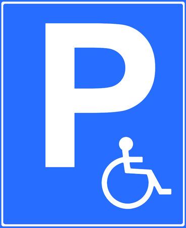 enforced: Disabled parking place sign