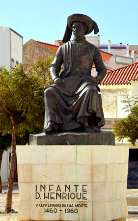 henry: Lagos, Algarve, Portugal - October 28, 2015 : Statue of Henry the Navigator the Portuguese explorer from the 15th-century