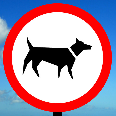 dont walk: No dog walking allowed order sign Stock Photo