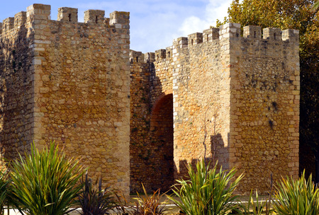 barlavento: Lagos, Algarve, Portugal - October 28, 2015 : The historical Castelo dos Governadores in Lagos