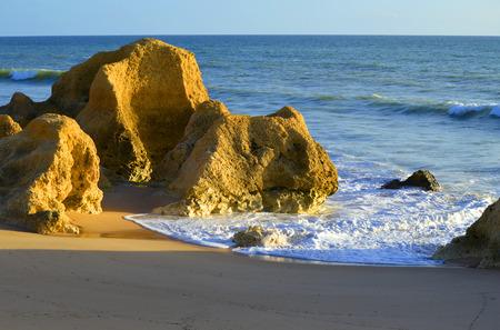 gale: Praia Da Gale Beach spectacular rock formations on the Algarve coast