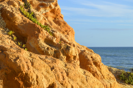 praia: Praia Da Gale Beach spectacular rock formations on the Algarve coast