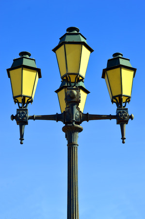 street lights: Street lights in Faro old town Portugal