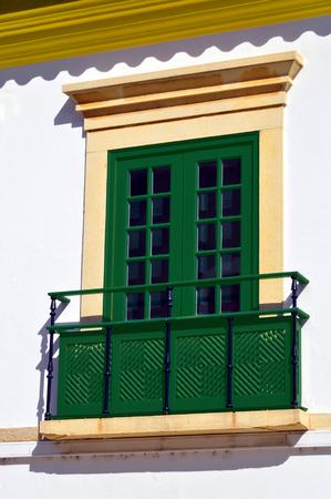 balcony window: Georgian window with a balcony in Loule