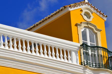balcony window: Georgian style window with a balcony in Loule