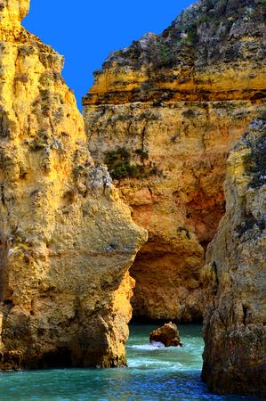 strange mountain: Ponta Da Piedade spectacular rock formations