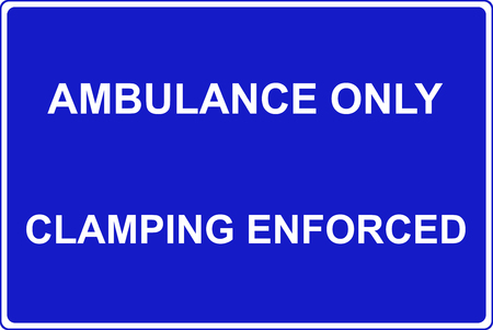 only: Ambulance parking only traffic sign