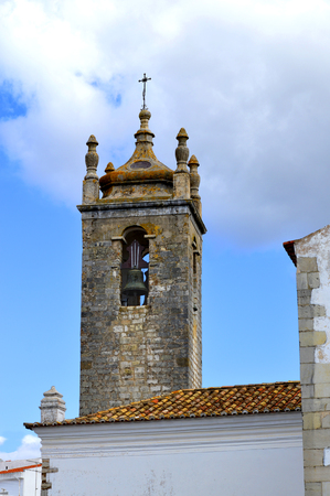 ou: Loule historical Igreja Matriz de Loule ou Igreja de Sao Clemente church bell tower Stock Photo