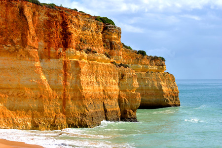 spectacular: Spectacular rock formations on Benagil Beach on the Algarve coast Stock Photo