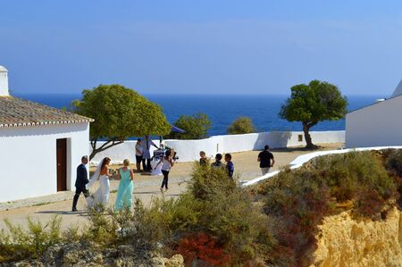 senhora: Senhora Da Rocha, Algarve, Portugal - September 27, 2014 : A romantic wedding ceremony in the sun at Senhora Da Rocha Portugal Editorial