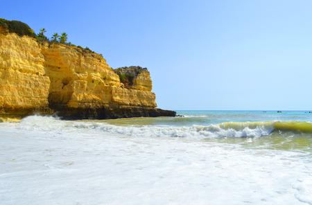 barlavento: Senhora Da Rocha Beach on the Algarve in Portugal