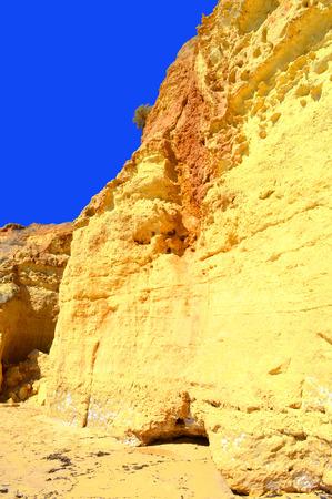 strange mountain: Vale Do Olival Beach spectacular cliffs