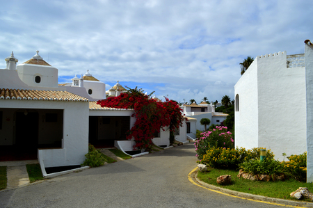 armacao: Houses in the village of Armacao De Pera in Portugal Stock Photo
