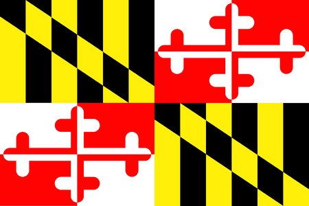 vertical bars: Maryland State Flag
