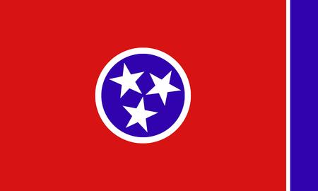 tennessee: Bandera del estado de Tennessee
