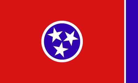 tennessee: Tennessee State Flag Stock Photo