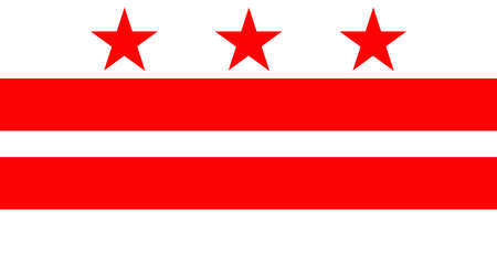 district of columbia: District of Columbia Flag Stock Photo