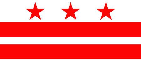 columbia: District of Columbia Flag Stock Photo