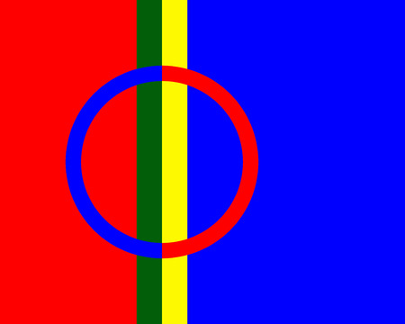 adopted: The Sami or Lapps adopted flag to represent themselves Stock Photo