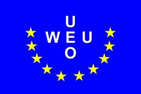 european union flag: Western European Union Flag Stock Photo