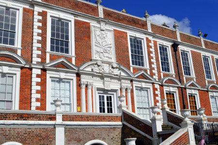 plasterwork: Croxteth Hall, Liverpool, UK - March 25, 2016 : The 15 century historical Croxteth Hall in Liverpool
