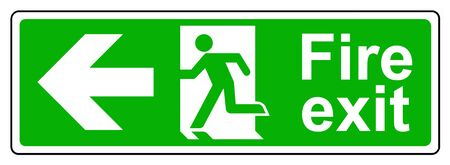 Fire exit left sign 免版税图像