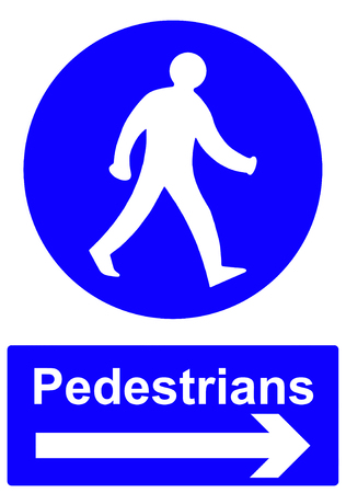 documented: Pedestrians stay to the right sign
