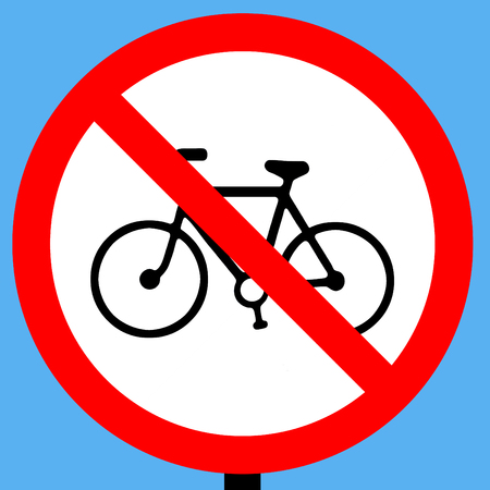 symbol vigilance: No cycling traffic sign