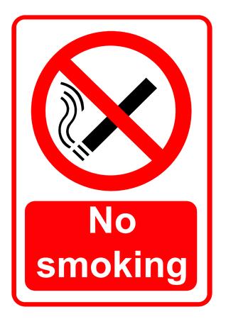 enforced: No smoking sign