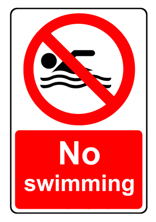 no swimming: No swimming sign