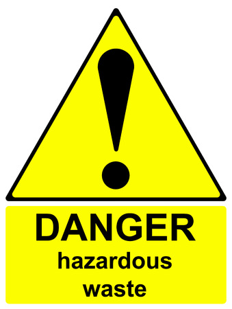 hazardous waste: Danger hazardous waste sign Stock Photo