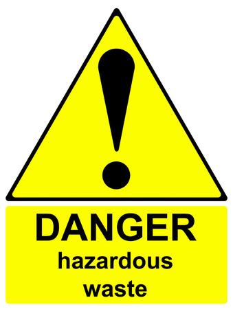 hazardous waste: Danger hazardous waste sign Stock Photo