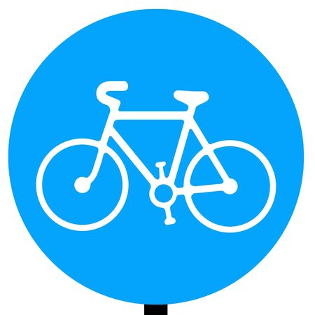 ciclos: Ruta para ser utilizado por los ciclos de pedal única señal de tráfico Foto de archivo
