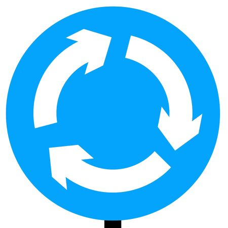 symbol vigilance: Mini-roundabout roundabout circulation - give way to vehicles from the immediate right