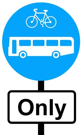 symbol vigilance: Buses and cycles only traffic sign
