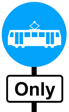 symbol vigilance: Trams only traffic sign