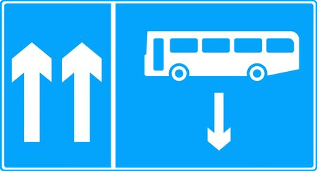 symbol vigilance: Contra-flow bus lane traffic sign
