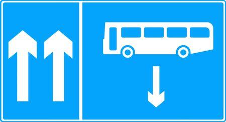 vigilance: Contra-flow bus lane traffic sign