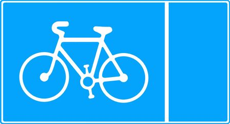 symbol vigilance: With-flow pedal cycle lane traffic sign