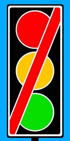 señales trafico: El tráfico no señala en uso signo