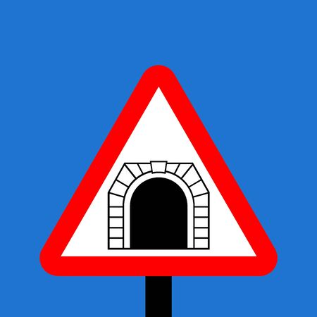 symbol vigilance: Warning triangle tunnel sign