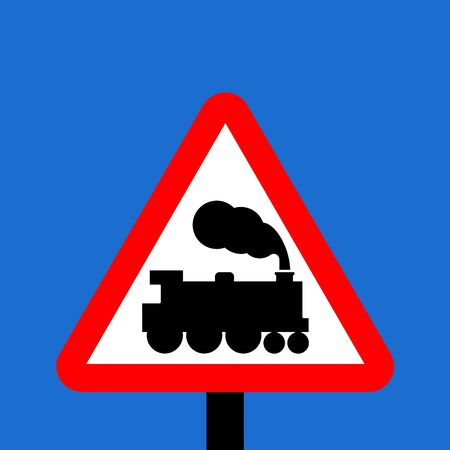 symbol vigilance: Warning triangle Level crossing without barrier or gate ahead